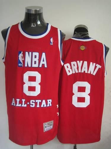 f286164600d Mitchell And Ness Lakers  8 Kobe Bryant Red 2003 All Star Stitched NBA  Jersey