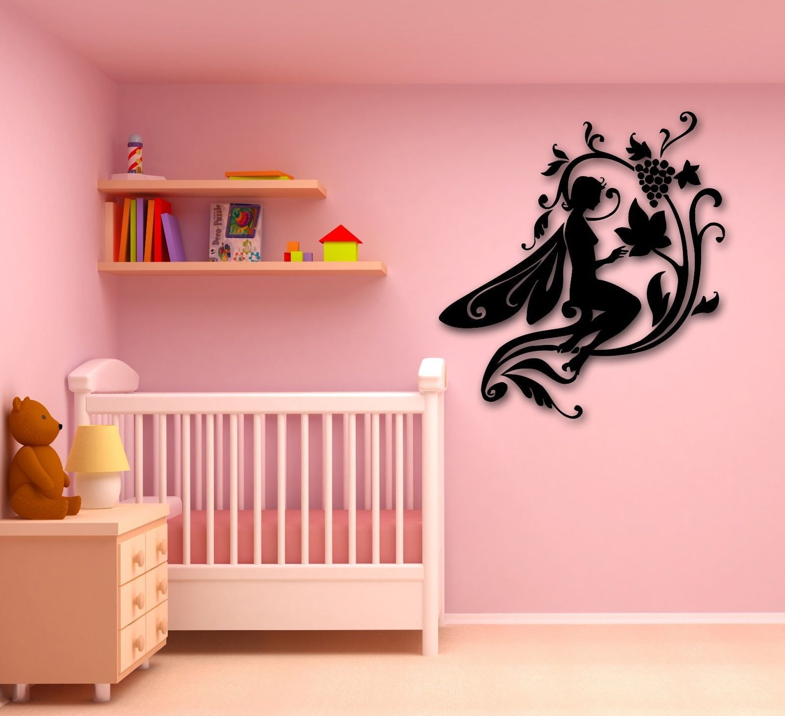 Wall Stickers Vinyl Decal Fairytale Fairy for Kids Childrens Room