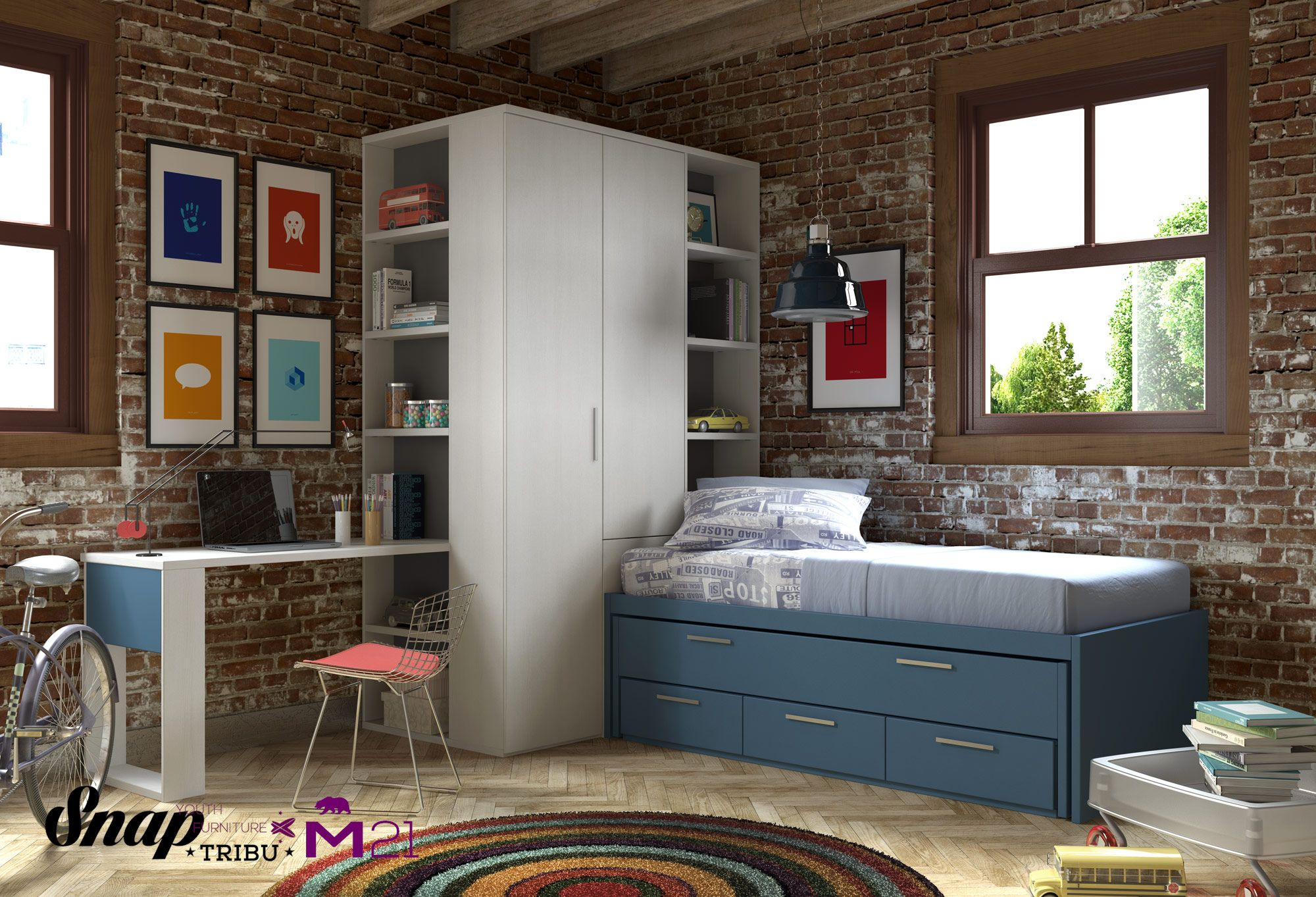 Tribu snap muebles hermida mueble juvenil m21 - Modelos de dormitorios juveniles ...