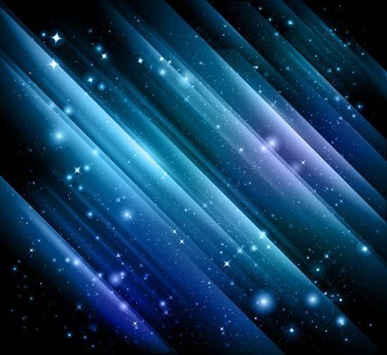 Abstract Lights On Dark Blue Background Dark Blue Background