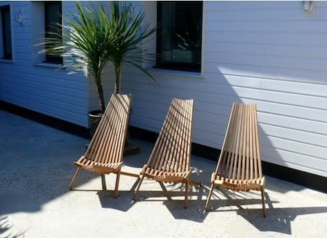 Outdoors Teak Deck Chairs From Trinidad In France Remodelista