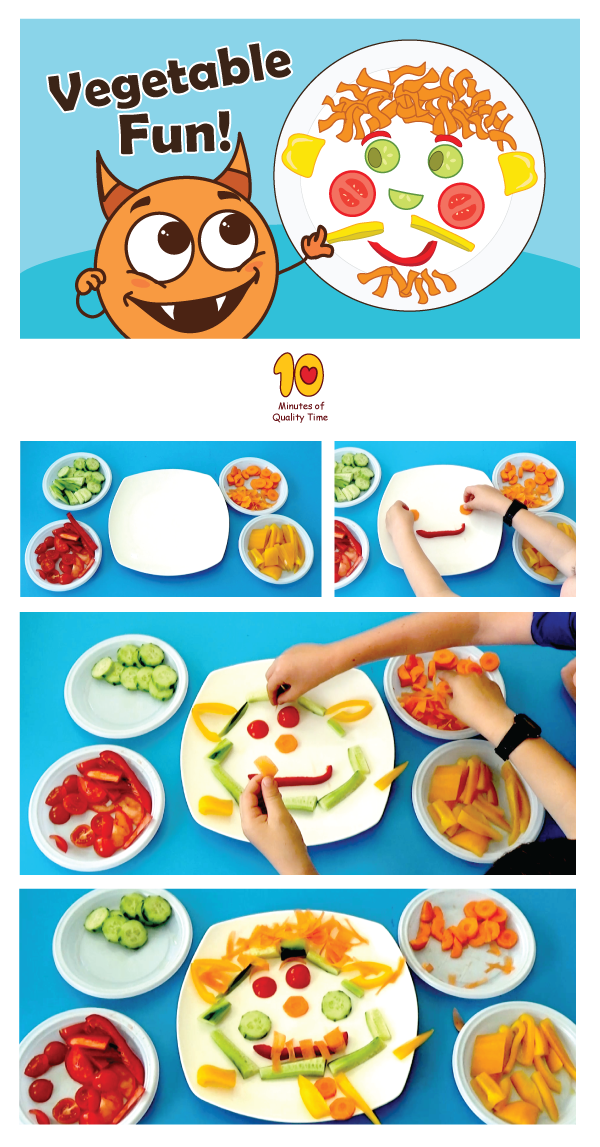 Vegetable Fun 10 Minutes Of Quality Time Food Themes Vegetable Crafts Fun Activities To Do