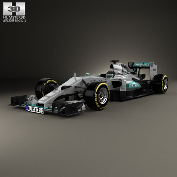 3D Model Of Mercedes-Benz F1 W06 Hybrid 2015