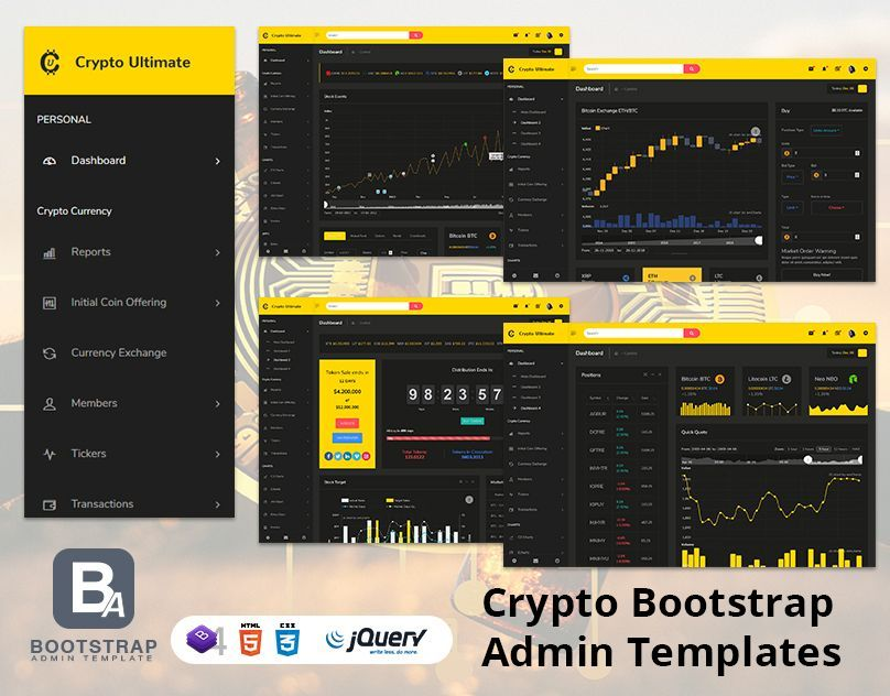 Crypto Ultimate Bootstrap Admin Templates Dashboard Templates Dashboard Template Admin