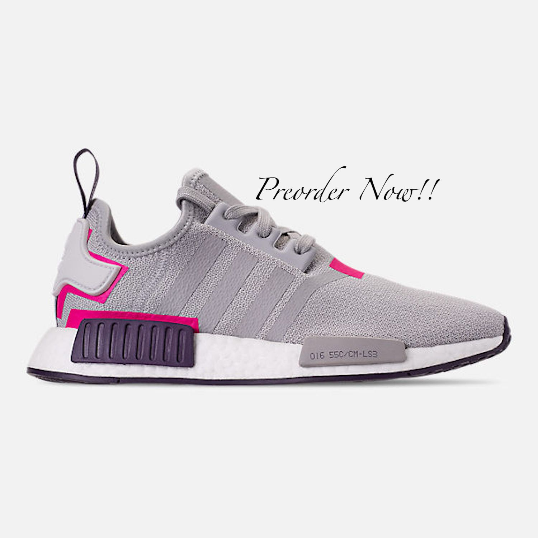 the best attitude 4d027 15471 Swarovski Women s Adidas Originals NMD R1 Gray   Pink   Etsy