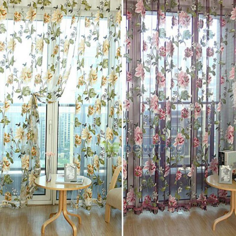 Cheap Curtains Purple, Buy Quality Curtain Stock Directly From China Curtain  Detector Suppliers: Elegant Floral Curtain Tulle Voile Window Curtain Panel  ...