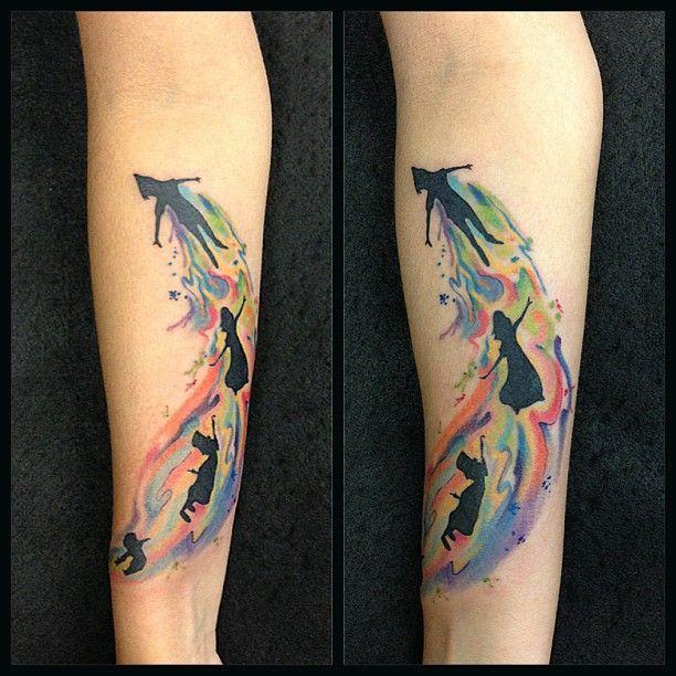 Pin By Wendy Roushia On Tattoos Cartoons Peter Pan Tattoo Neverland Tattoo Disney Tattoos