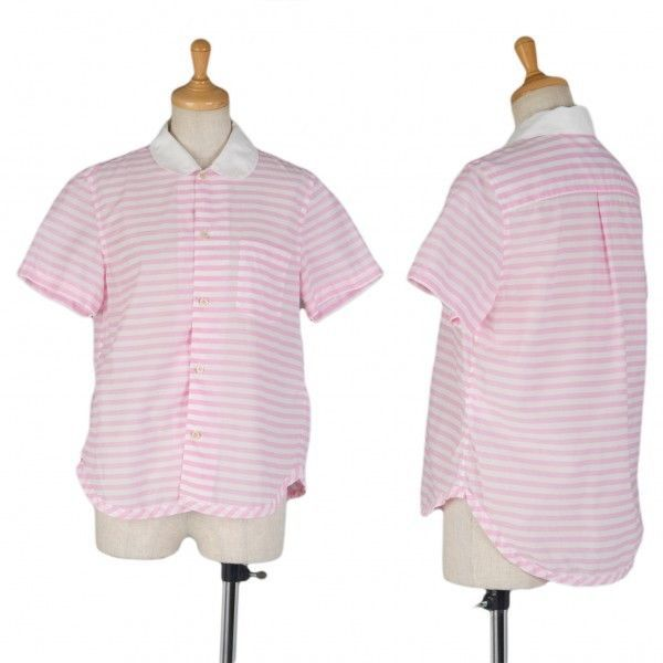 tricot COMME des GARCONS border short-sleeved shirt(K-9660)