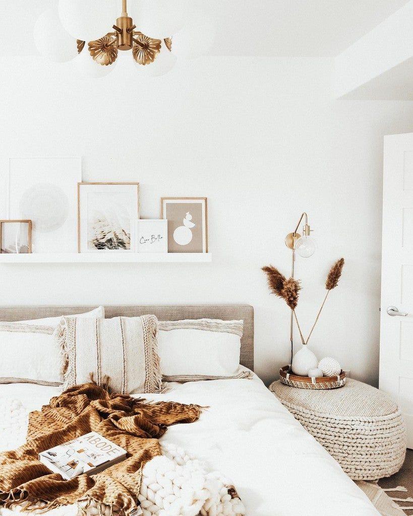 Tessu Glaze Gray King Bed Bed Decor Boho Bedroom Decor Home Decor