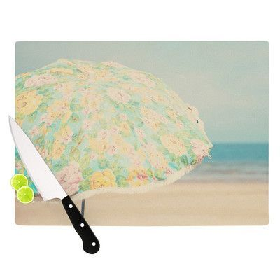 KESS InHouse A Summer Afternoon by Laura Evans Cutting Board Size: 11.5
