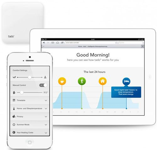 video tado smart home heating control from your smartphone tado pinterest smart home. Black Bedroom Furniture Sets. Home Design Ideas