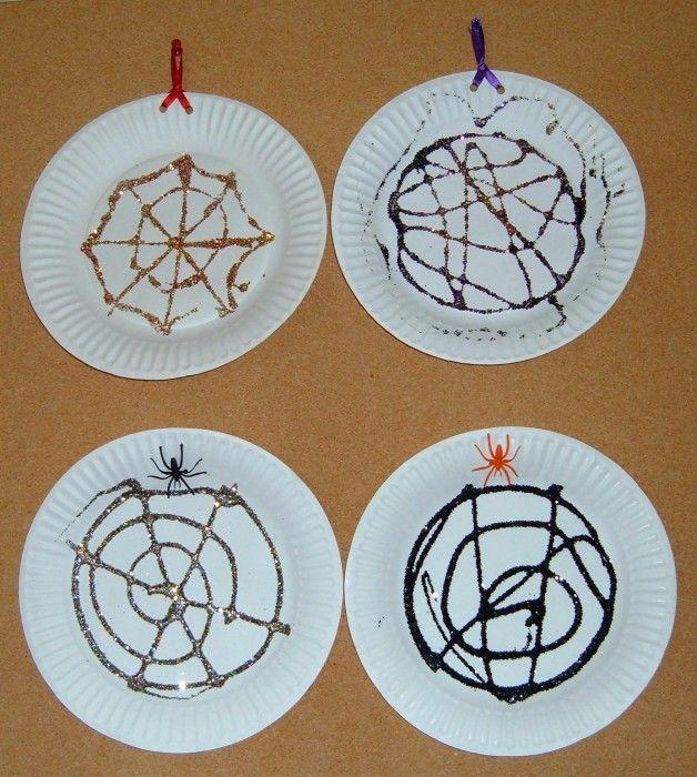 Glitter Spider Web - Free Halloween Craft for Preschoolers | For ...