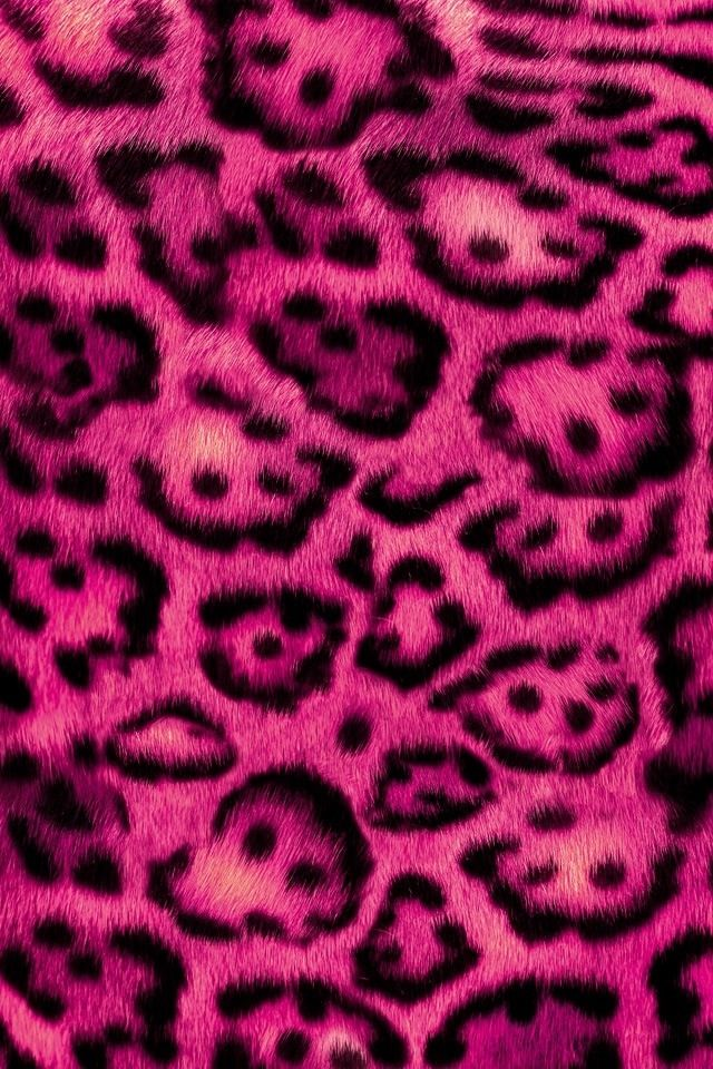 Fuzzy pink leopard wallpaper Animal print wallpaper