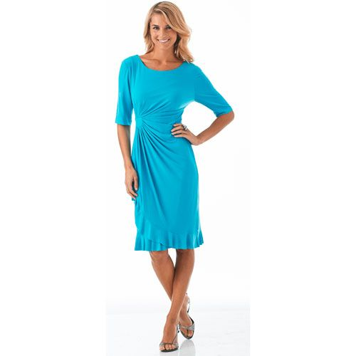 Connected Apparel Side Drape Dress $39.99