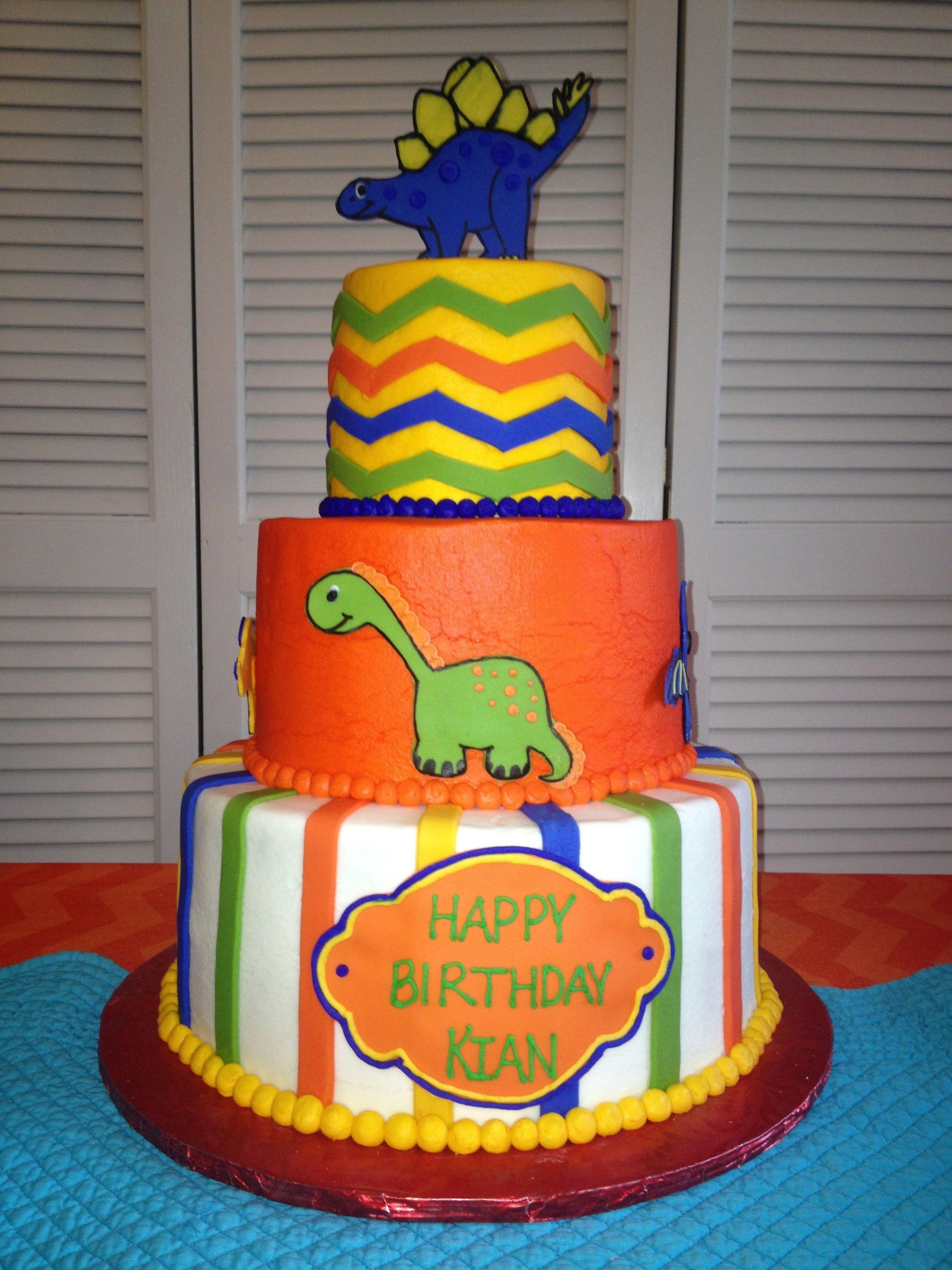 Kians Dinosaur Cake Party CakesPRECIOUS Pinterest
