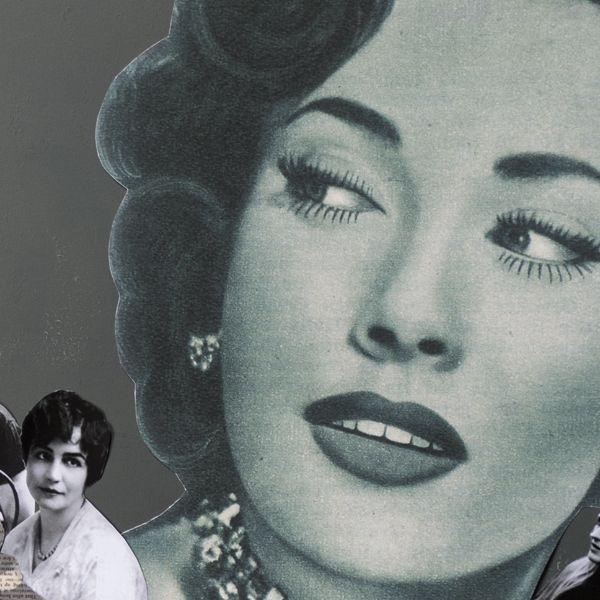 The Female Gaze Photomontage Female Graphic Art