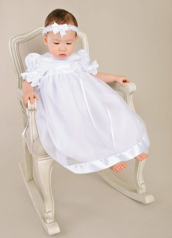 Clarice Christening Gown, Baptism Gown, LDS Blessing Gown for Baby ...