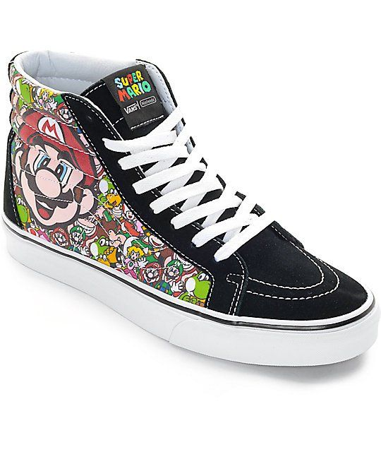 cf4723f730   b  br  br Bring some Super Mario Brothers style to any outfit with the  exclusive new Vans x Nintendo Sk8-Hi Mario   Luigi skate shoes.