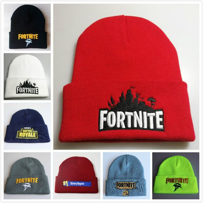 Fortress Night wool hat  Fortnite embroidered knit hat warm hooded hip hop  hat 872f7341227