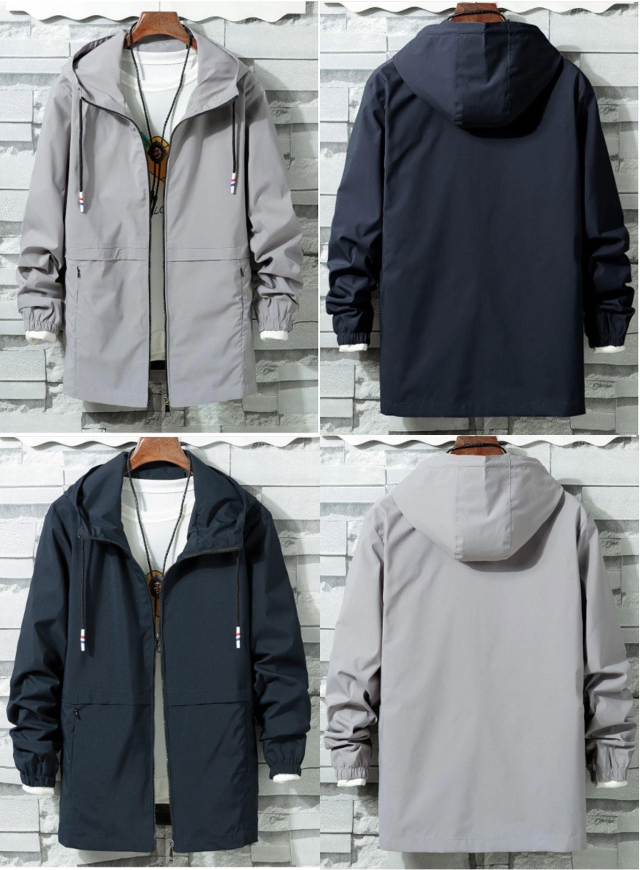 Men S Hooded Jacket Long Sleeve Style Products Sports Jacket Windbreaker Jacket Mens F Vintage Windbreaker Jacket Windbreaker Jacket Mens Jackets Men Fashion [ 3540 x 2604 Pixel ]