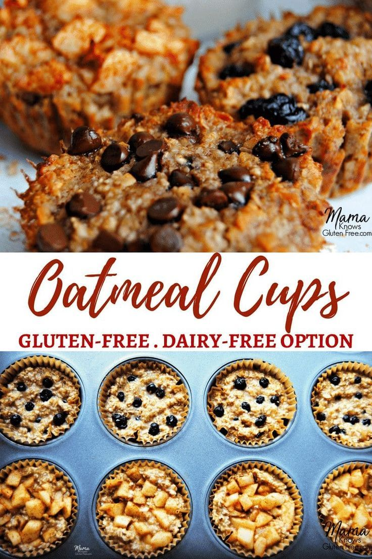 Baked Oatmeal Cups 3 Ways {Gluten-Free and Dairy-Free Option}