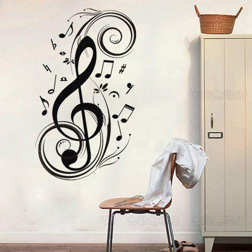 Music Note Treble Clef Design Wall Art Vinyl Stickers Transfers Murals Decals