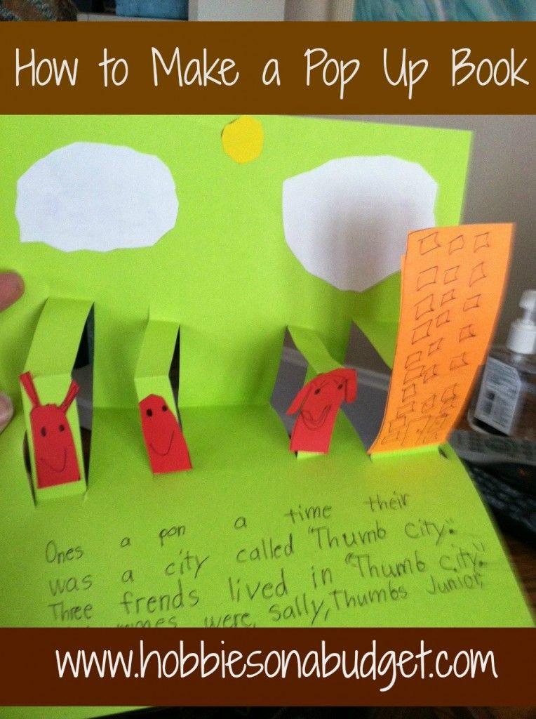How To Make A Pop Up Book Hobbies On A Budget Paper Crafts For Kids Diy Pop Up Book Pop Up Book