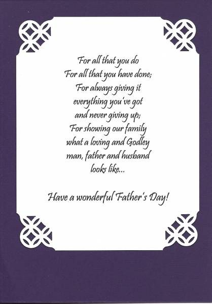 Inside of fathers day card cards pinterest cards card inside of fathers day card m4hsunfo