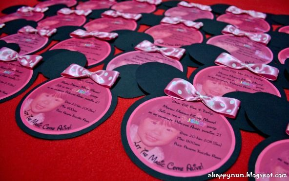 Wanna Try These Handmade DIY Minnie Mouse Birthday Invitations Read