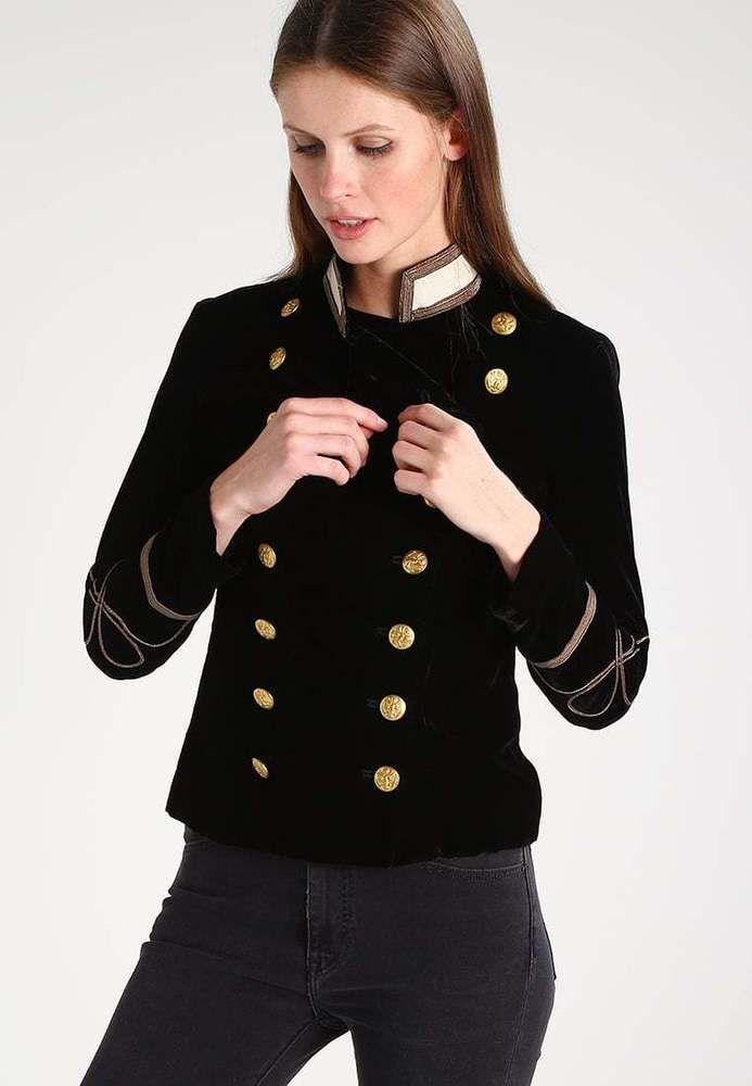 ralph lauren denim supply women military army velvet officer band coat jacket clothing. Black Bedroom Furniture Sets. Home Design Ideas