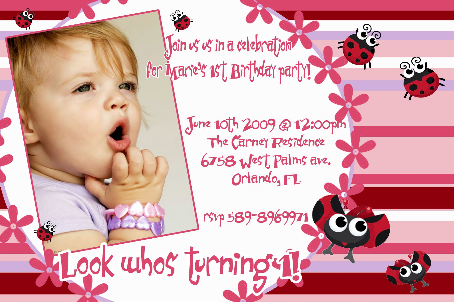 Baby Birthday Invitation Card | Invitations | Pinterest | Birthdays