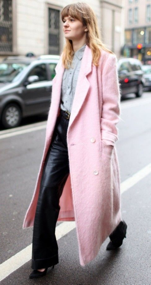 Gorgeous Pastel Pink Mohair Coat   Pretty in Pink   Pinterest ...