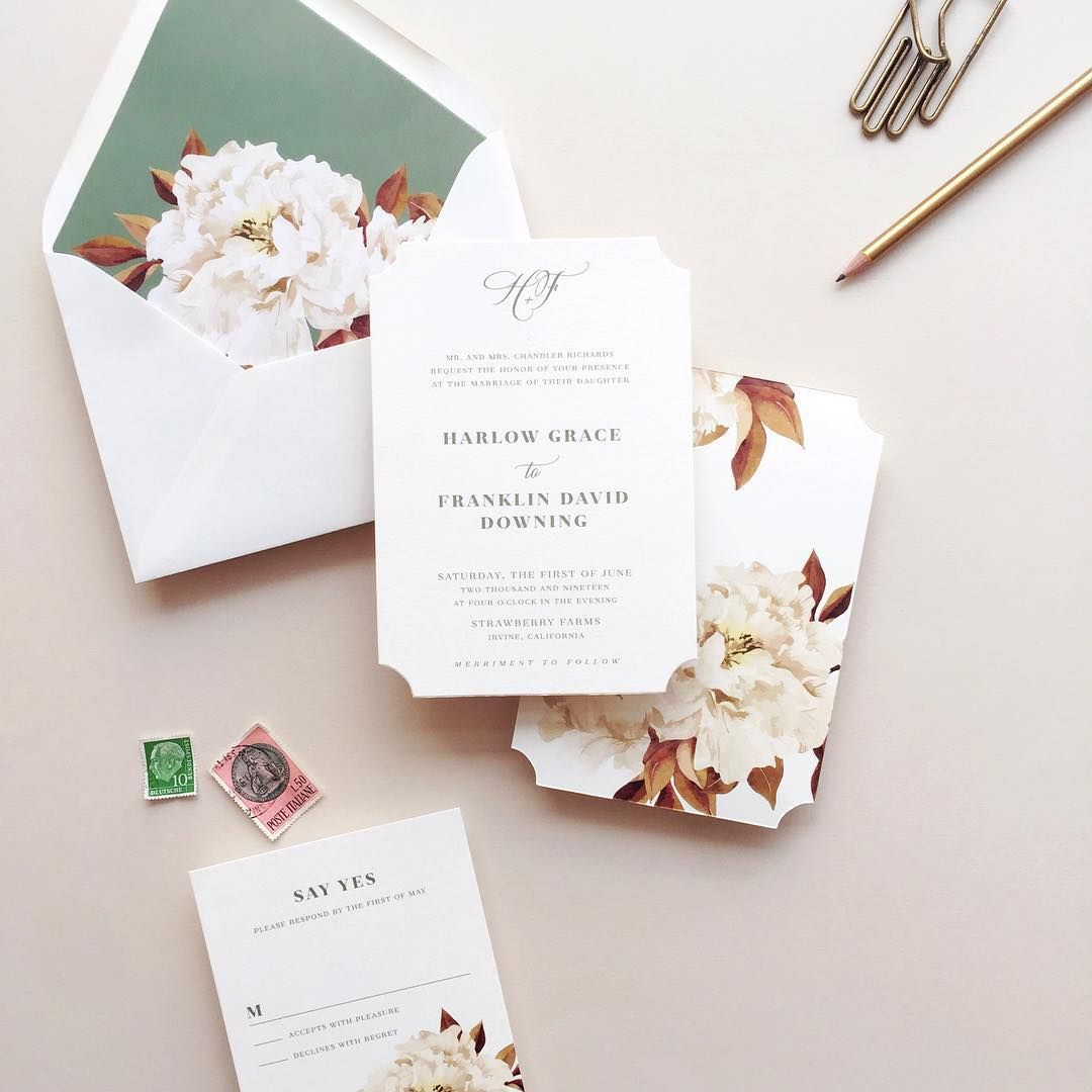classic floral wedding invitations   Event Office *~* Wedding ...