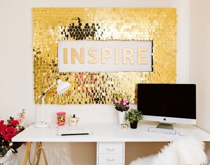 DIY Sequins Wall Art | Sequins, Walls and Clutter