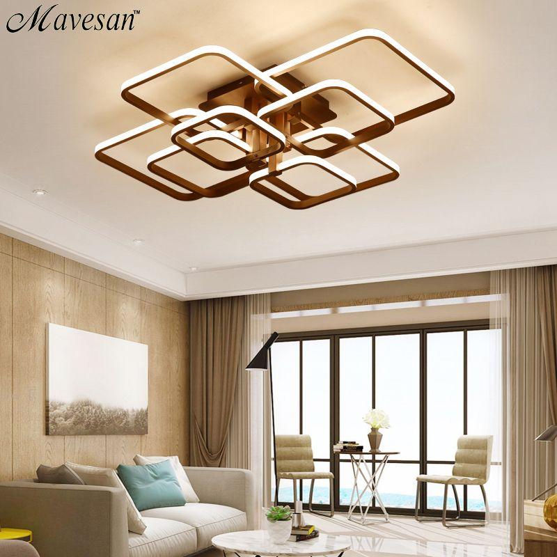 Lights & Lighting Square Circle Rings Chandelier For Living Room Bedroom Home Ac85-265v Modern Led Ceiling Chandelier Lamp Fixtures Free Shipping