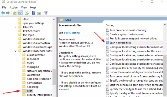 How To Enable Network Scanning In Windows Defender On Windows 10 Windows Defender Windows 10 System Restore