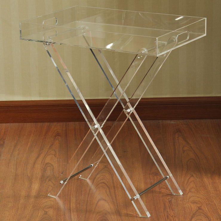 Folding Clear Acrylic Table 19 X 23 In Acrylic Furniture Decor