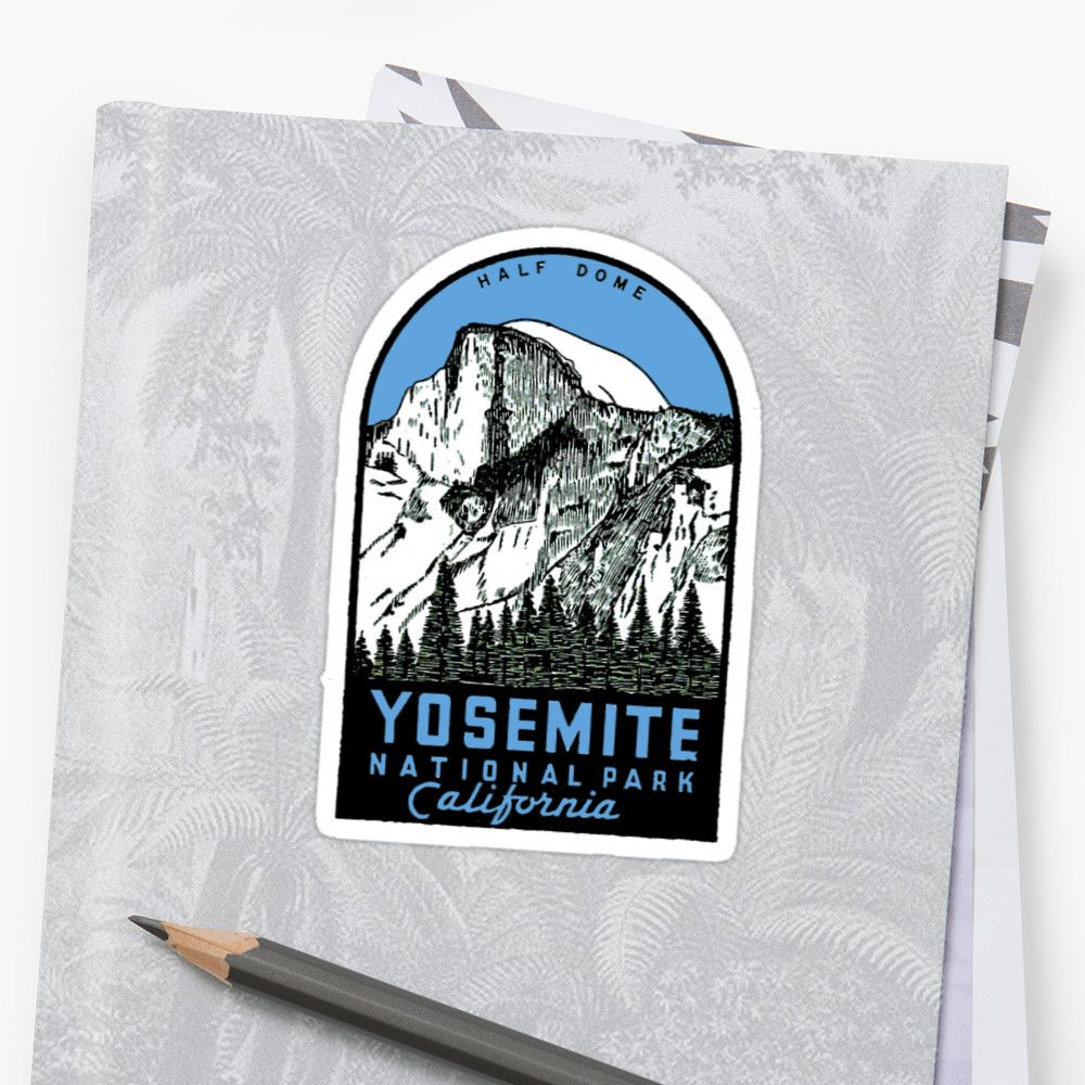 Yosemite National Park Half Dome vintage decal • Also buy