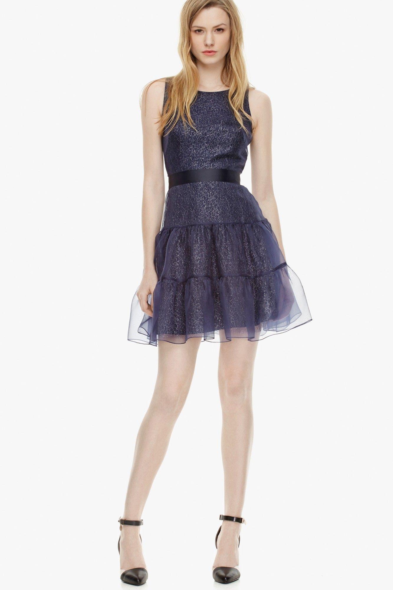 Vestido doble organza - Vestidos | Adolfo Dominguez shop online ...