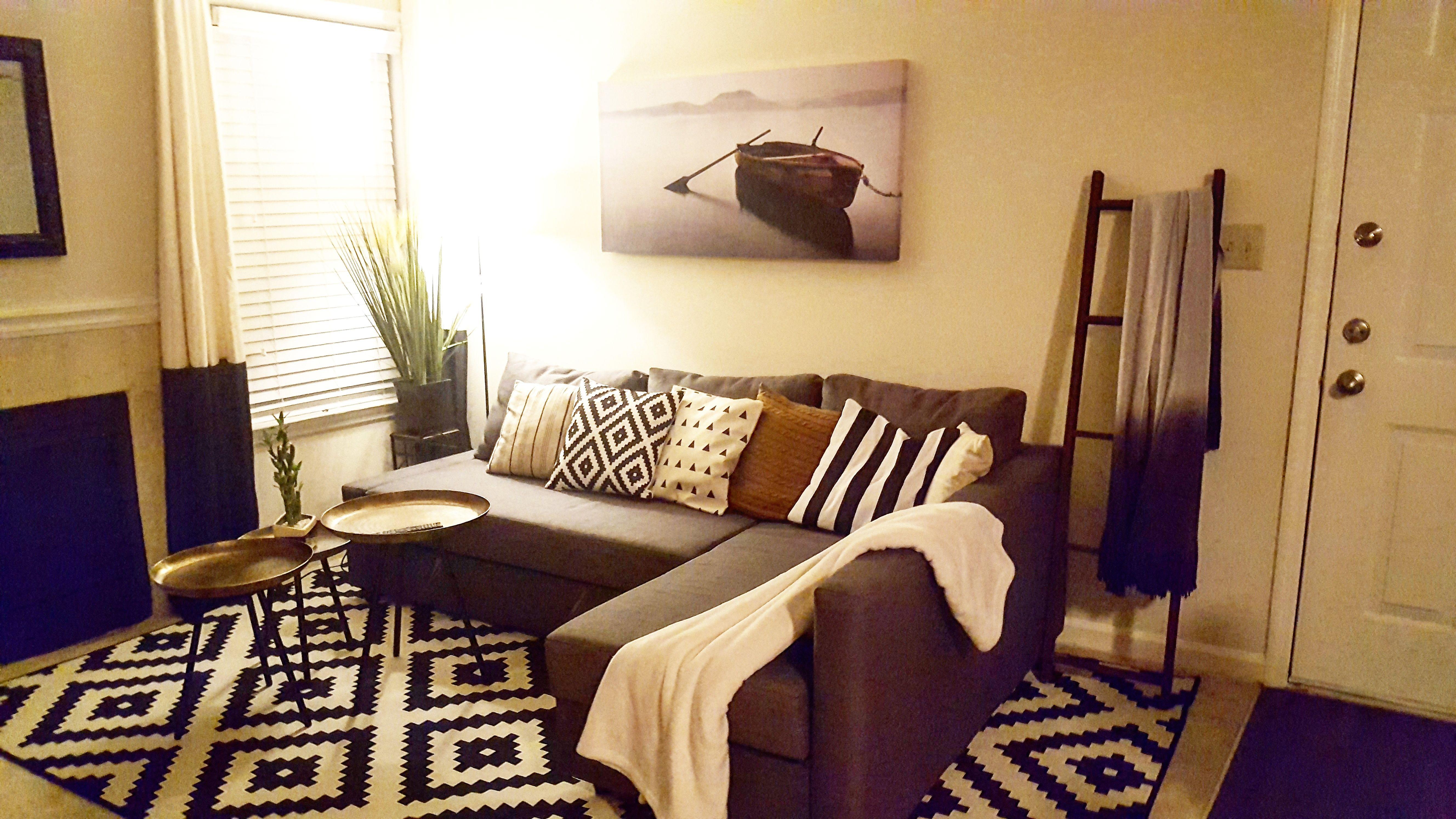 Ikea friheten sleeper sectional 3 seat skiftebo grey apartment decor chambre ami living - Deco chambre ikea ...