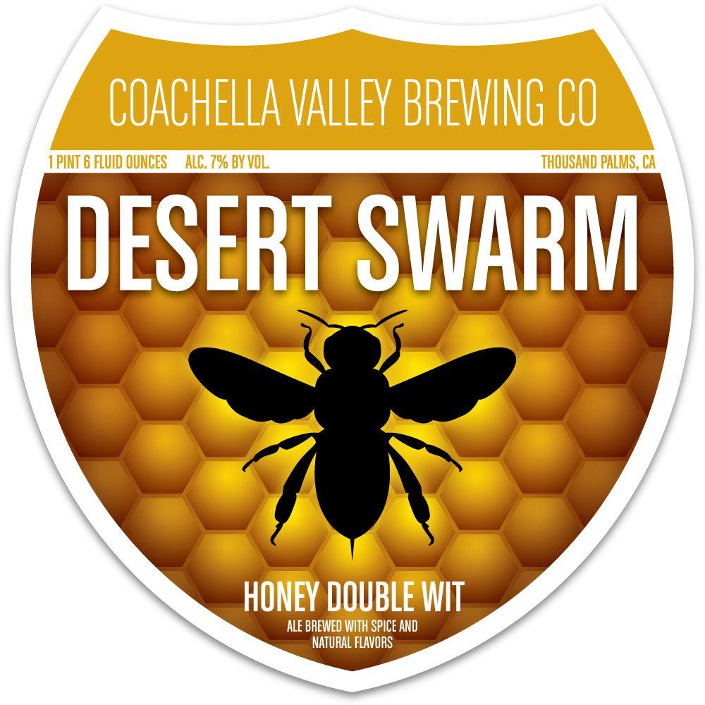 Coachella Valley Brewing Co. (CVB) beer bottle label