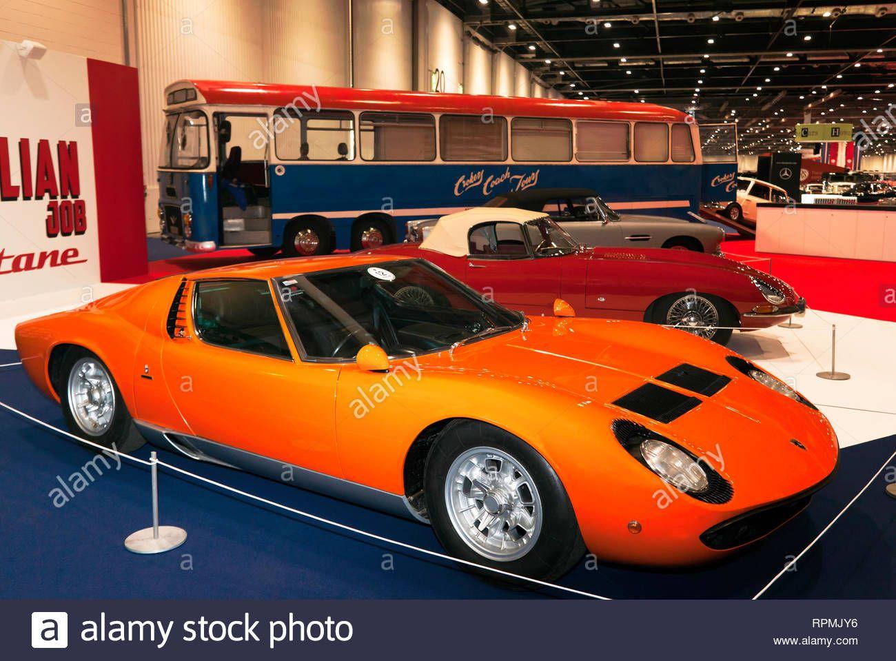 Download This Stock Image The Lamborghini Mura And Two Jaguar E
