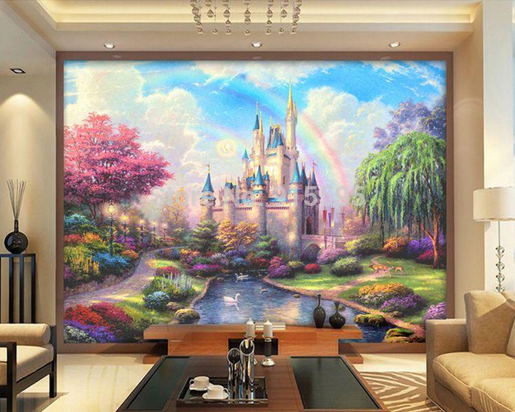 3D Wallpaper Mural Fantasy Castle Entrance Wall Paper