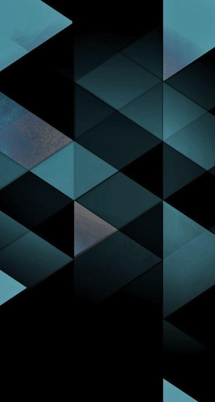 Beautiful Triangles - iPhone wallpaper @mobile9 | #geometric #pattern | iPhone 8 & iPhone X ...