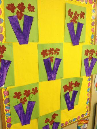 V Is For Vase Craft Pre K Letter V Crafts Letter A Crafts Alphabet Crafts
