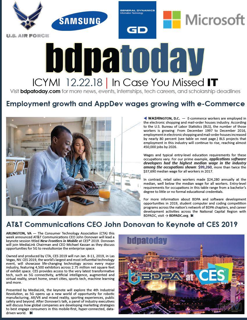 bdpatoday | #ICYMI →12 22 18 U S  #Labor Department reports