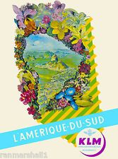 Rio de Janeiro Brazil L Amerique Sud South America Travel Advertisement Poster