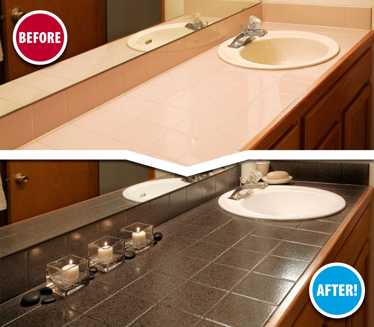 This Homeowner Loved Her Tile Vanity But Couldn T Stand The Dull