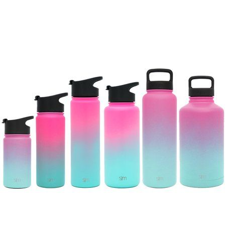 9bc812cddb Simple Modern 22 oz Summit Water Bottle - Stainless Steel Hydro Metal Flask  +2 Lids - Wide Mouth Double Wall Vacuum Insulated Large 2 Liter Half Gallon  ...