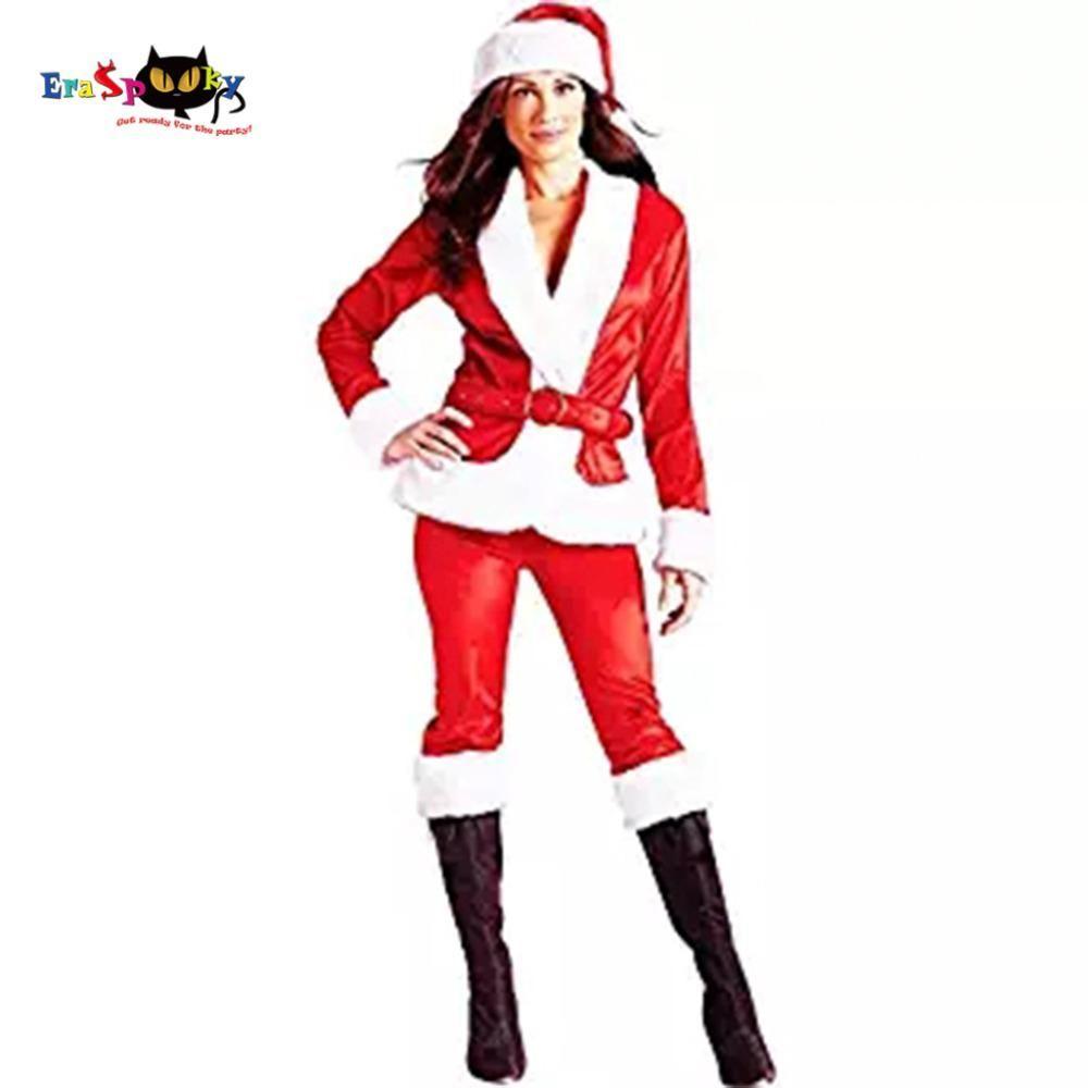 675d34b00cc Eraspooky 2017 Christmas Costume Women Santa Claus Costume Red ...